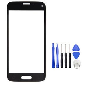 Pantalla táctil exterior delantero de la pantalla LCD de cristal cubierta de la lente para Samsung Galaxy S5 mini-G800 G800A G800F con Kits de Herramientas