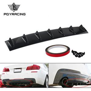 Pqy-ABS пластик универсальный черный задний бампер губ шасси диффузор спойлер 7 плавник акулы плавник стиль PQY-SFB04-7