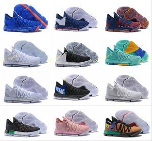 2018 kd 10 x mens sapatos de basquete kevin durant 10 s orange pura platina bhm oreo triplo lmtd cidade série características kd10 tênis esportivos