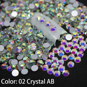 1440 piezas / paquete SS3-SS50 Crystal AB Nail Art Decoraciones Diamantes de imitación para 3d Charm Glass Flatback Non Hotfix DIY Nails Decorations