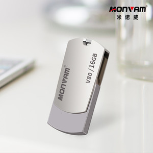 Laser Engraving Seu logotipo do negócio real Capacidade USB Memory Stick metal Pendrive USB Flash Drive Rotating USB Memory Stick Para Monvam V80