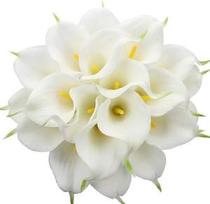 Calla Lily Matrimonio Bouquet da sposa Fiori finti Lataex Real Touch Fiori artificiali Home Mazzi Matrimonio Ufficio Centrotavola Decor