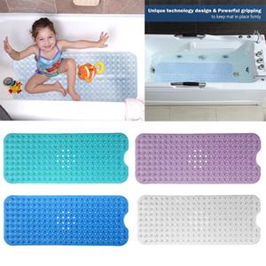 40 * 100 cm Tapete De Banho PVC Grande Banheira Antiderrapante Tapetes De Banho Com Ventosas Frete Grátis