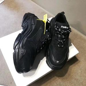 Mode Paris 17FW triple s Schuhe Turnschuhe Triple S Casual Luxus Dad Schuhe für Männer Frauen Beige Schwarz Sport Tennis Schuhe Doppel Box