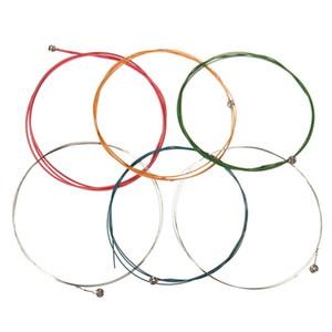 6 Pçs / set 80 cm Multi Color Guitarra Acústica Strings Instrumentos Musicais Substituições Para Peças de Guitarra Acústica Clássica Acessórios