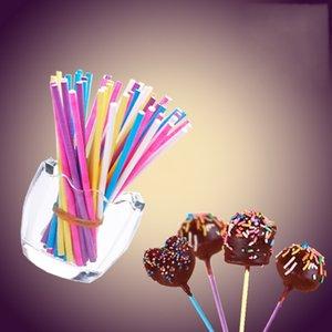 Lollipop no tóxico de seguridad Sticks multi colores Cake Pop Stick Eco Friendly Paper Candy Bar Fábrica Directa 4 8sk BB