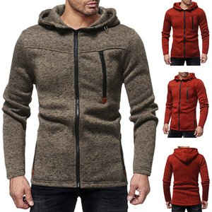 Designer Men Cardigan Hoodie Sweatshirts 2018 Autumn Winter Men Hooded Streetwear Clothes Casual Zipper Sweatshirts Zipper with Pocket