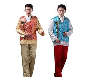 Hombres coreanos tradicionales Hanbok Tribunal étnico masculino oriental traje de baile de la etapa hombres Corea Hanbok ropa asiática antigua ropa