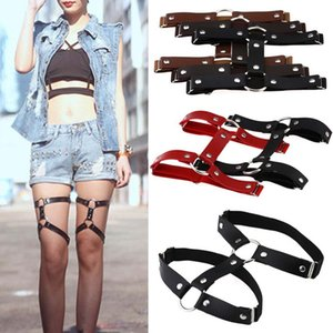 Sexy Harajuku Style PU Leather Garter Belts for Women Punk Leather Garters Leg Ring Harness Gifts One Free Adjustable Size