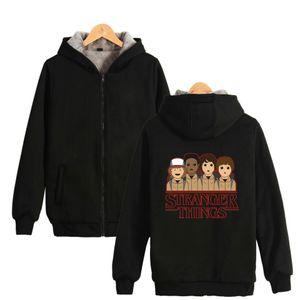 Blackday K-Pop-Winterjacke seltsamere Dinge College-lustige dicke Jacke Frauen / Männer Basis Baumwolle Jaqueta Feminina warme Mantel-Jacken
