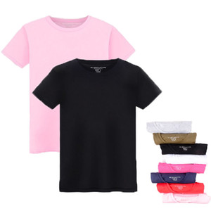 Men's large size cotton loose short-sleeved T-shirt Customizable solid color round neck pullover Four Seasons wear casual T-shirt