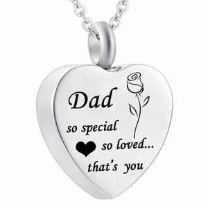 So special so loved that's you Stainless Steel heart Shape oma Cremation Urn Necklace Locket Pendant Ash Jewelry for Men Women