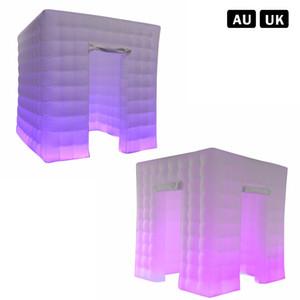 الجملة-2 معايير 2.5 * 2.5 * 2.5 متر للإزالة نفخ كشك الصور أدى الإضاءة غرفة كشك الصور مع الأبواب خيمة الزفاف photobooth