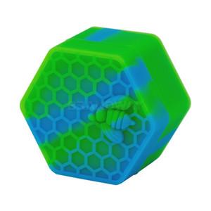 Mais barato! Hexagon Silicone Recipiente De Silicone Antiaderente Jars 26 ML Wax Recipiente De Crumble de Óleo De Mel Cera Frascos De Silicone Dab