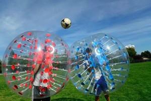 Ücretsiz Kargo 1.5M PVC Kabarcık Futbol Topu, İnsan Hamster Ball, Şişme Tampon Topu Zorb Topu