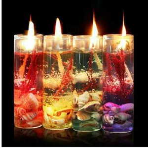 Art Ocean Jelly Candles Wedding Día de San Valentín Romántico perfumado Aromaterapia Vela Decoración al azar Velas sin humo
