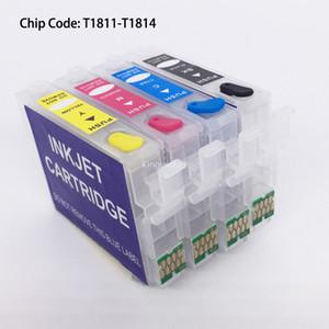 T1801 T1811-T1814 Epson XP-212 XP-215 XP-312 XP-315 XP-412 XP-415 Için Kalıcı Çip ile Doldurulabilir Kartuş