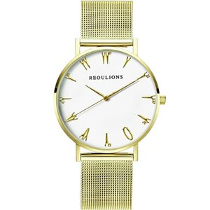 New Design Women Watch Metal Mesh Band Stainless Steel Analog Quartz Wristwatch Creative Women Watches