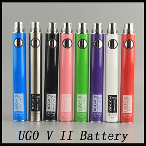Oringinal Evod UGO V II V 2 650mAh 900mAh Ego 510 батарея 8colors Micro USB заряд Passthrough E-cig O pen Vape батареи 0270001