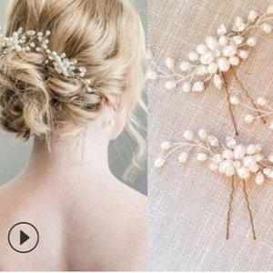 hairpins casamento jóias cabelo jóias para noivas hairpins pérolas de cristal grampos feitos à mão quente de moda