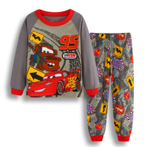 Vêtements de bébé garçon de bande dessinée voiture service à domicile costume costume pyjama