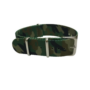 20 mm 22 mm camuflaje calidad Nylon Nato Band correas de reloj con anillos de acero envío libre de DHL 5 unids / lote