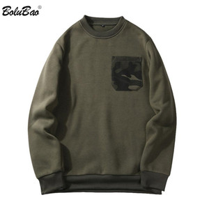 New Mens Hoodies Fashion Camouflage Pocket Cotton O-Neck Men Casual Hoodies Sweatshirts Sportswear Male Pullover EU Size