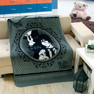 140 * 100 cm Japón Soft Coral Manta Fleece Anime Black Manta Butler Cosplay Lanzar KuroshitsUJI NAP GBCTS