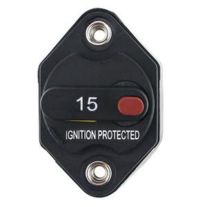 Disjoncteur, porte automatique de fusible de voiture 15 disjoncteur de circuit à la traîne avec la remise manuelle, 12V- 48V DC, imperméable à l'eau
