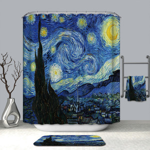 Eco Friendly 1.8 M Modern Waterproof shower 3D Colorful Shower Curtain Bathroom Curtain fish curtains Bath Decor Shower Curtains