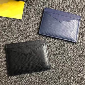 Повседневная Марка держатель карты Зигзаг ультра-тонкий мини-кошелек Мужчины / Женщины реальная кожа ID кредитной карты тонкий автобус карты бумажник с коробкой