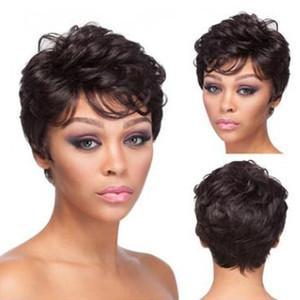 Лучшие Продажи Высокого Качества Новые прибывающие короткие парики полный парик моделирования человеческих волос парик моды короткие парики полный парики