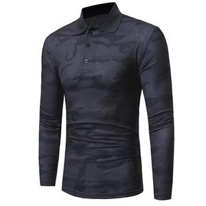 GAUCHE ROM 2018 mode hommes coton corps mince Set tête à manches longues chemise / camouflage de loisir masculin chemise à manches longues