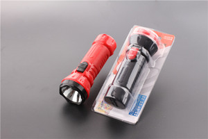 Rechargeable mini plastic household flashlight outdoor lighting large capacity small flashlight