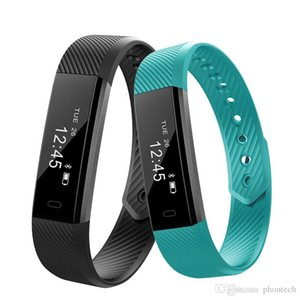 Smart Wath Bluetooth Fitbit ID115 Smart Bracelets fitness tracker Wristband With Retial box