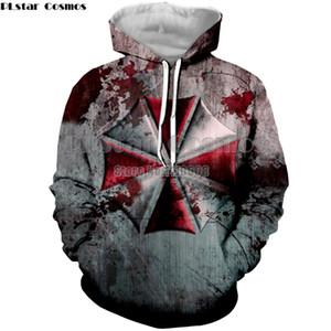 PLstar Cosmos Resident Evil Hoodies Hommes Femmes Sweats à capuche Sewatshirts Veste à capuche manches longues Pull overs Survêtements