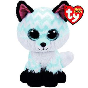 """Ty Beanie Boos Peluche Doll Piper The Fox Giocattoli farciti morbidi con etichetta 6 """"15cm"""