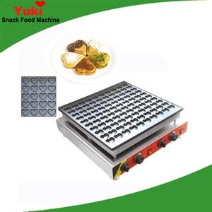 Beliebte 100 stücke herzförmigen mini waffeleisen nette geformte poffertjes grill maschine kommerziellen kleine waffel kuchen maschine snack ausrüstung café