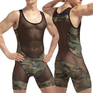 WJ Gay Mens Bodysuit Wrestling Singlet bodysuit Latex Erótico Wrestling Singlet Mens Sexy Corpo Terno Sexy Lingerie Fetiche