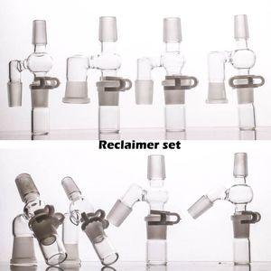 Set di recupero 45/90 gradi per bong in vetro rig con adattatore 14 18 maschio e femmina. Nuovo design completo