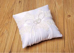 Лучшие продажи кружевное квадратное обручальное кольцо подушки дешевые распродажа горный хрусталь