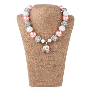 소녀 핑크 호박 목걸이 어린이 할로윈 다이아몬드 매력 목걸이 펜던트 쥬얼리 액세서리 여자 생일 선물