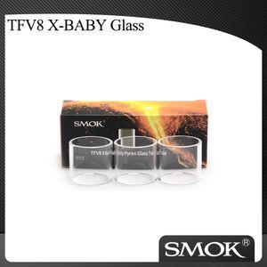 Autêntico SMOK TFV8 X-Baby Substituição Pyrex Tubo de Vidro Puro apto para Smoktech TFV8 X-Baby Tanque / Vara X8 Kit / G-PRIV 2 Kit 100% Original