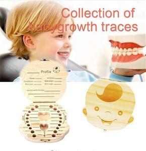 الخشب تخزين مربع للطفل الاطفال الأسنان مربع منظم تخزين مربع للطفل حليب الأسنان جمع organizador SpanishEnglish حالة TO654