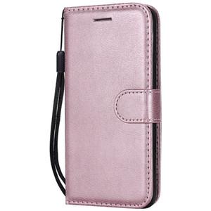 Brieftasche für Apple iPhone 6 Flip Back Cover reine Farbe PU Leder Handy Taschen Coque Fundas für iPhone 6S