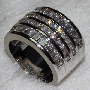 choucong Princess cut 10ct Diamond 10KT White Gold Filled Women Engagement Wedding Ring set Sz 5-11 Gift