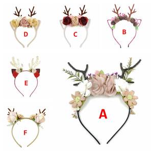 Baby Girl Deer цветок волос Палочки Дети девушки день рождения головных уборов 6styles Дети Рождество Новый год для волос