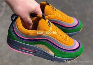 Erkekler Kadınlar İçin 2018 Sean Wotherspoon Max97 1/97 Eclipse Özel Koşu Ayakkabı, Moda 97 97S Spor Antrenörü Sneakers Eur 36-46