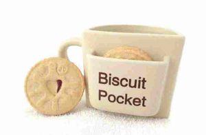 Novidade Biscuit De Cerâmica Bolso Caneca De Café Engraçado Chá De Café Cup Cookie Holder Design personalizado frete grátis
