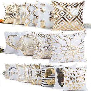 56 design paillettes bronzea federa di natale federa amore banda geometrica copertura del cuscino casa divano car decor senza core wx9-865